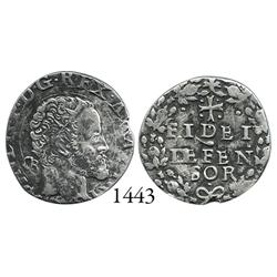 Naples, Italy (under Spain), carlino, Philip II, rare.