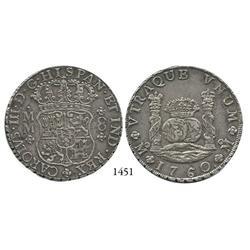 Mexico City, Mexico, pillar 8 reales, Charles III, 1760MM.