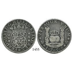 Mexico City, Mexico, pillar 4 reales, Ferdinand VI, 1758MM.