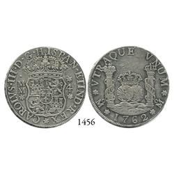 Mexico City, Mexico, pillar 4 reales, Charles III, 1762MM.