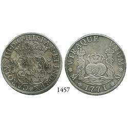 Mexico City, Mexico, pillar 4 reales, Charles III, 1771MF.
