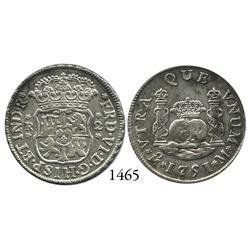 Mexico City, Mexico, pillar 2 reales, Ferdinand VI, 175/41M.