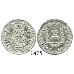 Mexico City, Mexico, pillar 1 real, Philip V, 1746M.