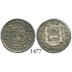 Mexico City, Mexico, pillar 1 real, Ferdinand VI, 1748/7M.