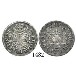 Mexico City, Mexico, pillar 1 real, Charles III, 176/54M/?, unlisted.