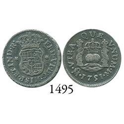 Mexico City, Mexico, pillar 1/2 real, Ferdinand VI, 1751M.
