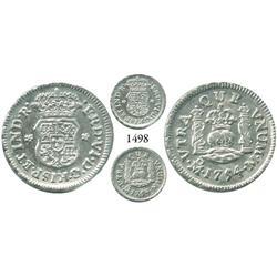 Mexico City, Mexico, pillar 1/2 real, Ferdinand VI, 1754M.