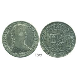 Mexico City, Mexico, bust 8 reales, Ferdinand VII, 1820JJ.