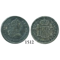 Mexico City, Mexico, bust 1 real, Charles III, 1781FF.