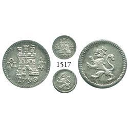 Mexico City, Mexico, 1/4 real, Charles IV, 1799/8.