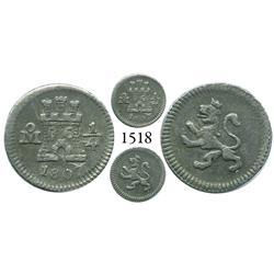Mexico City, Mexico, 1/4 real, Charles IV, 1807.