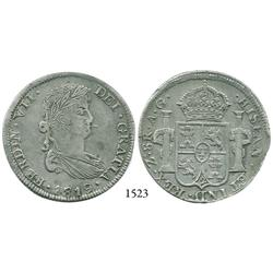 Zacatecas, Mexico, bust 8 reales, Ferdinand VII, 1819AG.