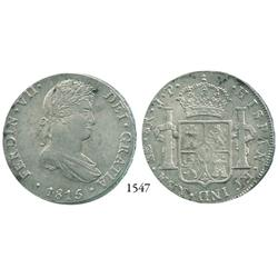 Lima, Peru, bust 8 reales, Ferdinand VII, 1815JP.