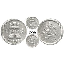 Lima, Peru, 1/4 real, Ferdinand VII, 1819.