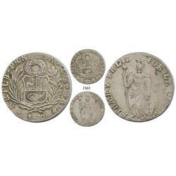 Cuzco, Peru, 4 reales, 1838B, unlisted date.
