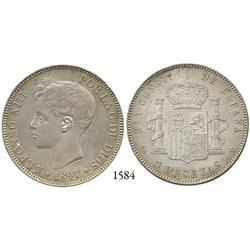 Madrid, Spain, 5 pesetas, Alfonso XIII, 1897SG-V.
