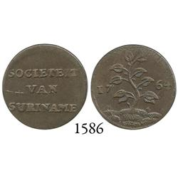 Suriname (Dutch Guyana), copper duit, 1764.