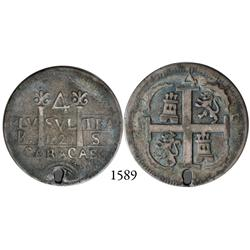 Caracas, Venezuela, 4 reales, 1820BS, rare.