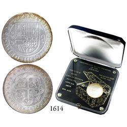 Limited-edition 1-ounce silver medal made from Atocha silver by the Mexico City mint in custom Lucit