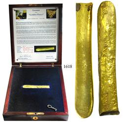 "Gold ""finger' bar #11 from the ""Golden Fleece wreck"" (ca. 1550), 204 grams, 20-1/2K, in special pres"