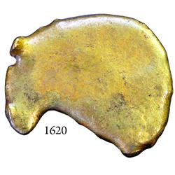Gold nugget #1039 from the Espadarte (1558), 32 grams.