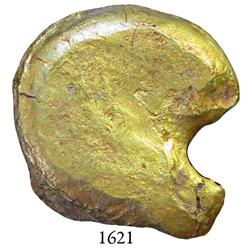Gold nugget #1004 from the Espadarte (1558), 19 grams.