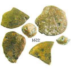 Lot of 6 low-grade gold pieces from the Espadarte (1558).