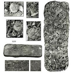 "Large silver ""tumbaga"" bar #M-66 (""key bar"") from the ""Tumbaga wreck"" (ca. 1528), 21.66 lb."