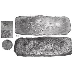 "Silver ""tumbaga"" bar #M-115 from the ""Tumbaga wreck"" (ca. 1528), 7.08 lb."