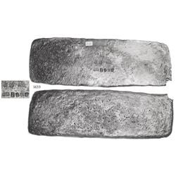 "Silver ""tumbaga"" bar #M-106 from the ""Tumbaga wreck"" (ca. 1528), 6.51 lb."