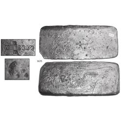 "Silver ""tumbaga"" bar #M-63 from the ""Tumbaga wreck"" (ca. 1528), 4.59 lb."