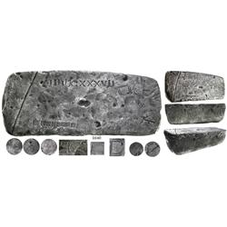 Large silver bar from the Atocha (1622),100 lb 2.3 oz troy, Class Factor 1.0.