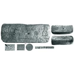 Large silver bar from the Atocha (1622), 91 lb 4.96 oz troy, Class Factor 1.0.
