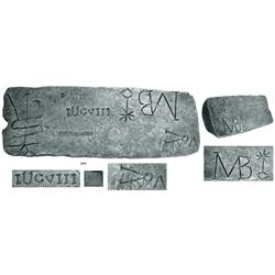 Large silver bar from the Atocha (1622), 83 lb 9.44 oz troy, Class Factor 1.0.