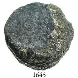 Small silver plug (contraband ingot?), from an original Spanish salvage camp of the 1715 Fleet, 34.8