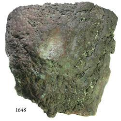 Cut copper ingot from the Atocha (1622), 12 lb av.