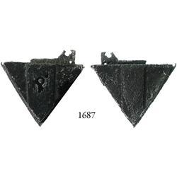 Iron padlock, professionally conserved.