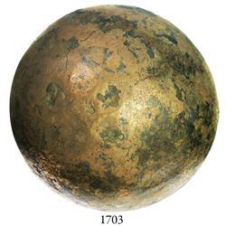 Bronze cannonball, rare.