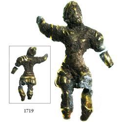 Low-grade gold(?) Columbus statuette/adornment.