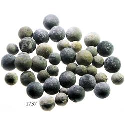 Lot of 40 lead musketballs.