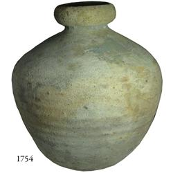 Earthenware olive jar, perfectly intact.