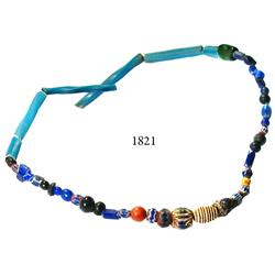 Glass-bead necklace.