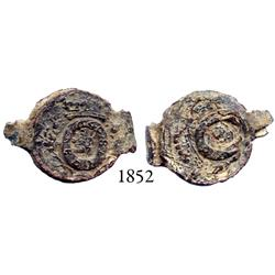 Lead textile seal dated 1640.
