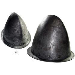 Spanish steel cabasset (helmet), ca. 1600-1650.