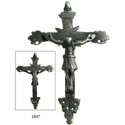 Silver crucifix, Peruvian, 1700s.