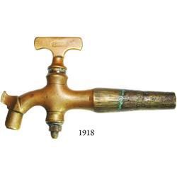Brass spigot, Dutch, 1800s, found in South Africa.