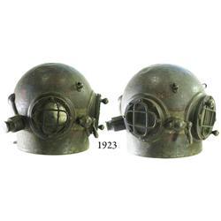 1908 bronze Schrader diving bonnet, very rare.