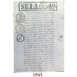 Document from 1823 from Guadalajara, Mexico, with many seals.