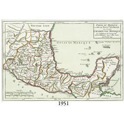 """1749 French map of Mexico entitled """"Partie du Mexique ou de la Nouvelle Espagne ou se trouve l'Audie"""