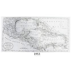 "Circa-1780 British map of the West Indies entitled ""West Indies from the latest Authorities""."